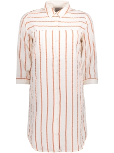Vero Moda Tuniek VMSTRIPY 3/4 LONG SHIRT A 10171489 Snow White/ Cedar Wood
