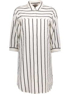 Vero Moda Tuniek VMSTRIPY 3/4 LONG SHIRT A 10171489 Snow White/ Black Thin