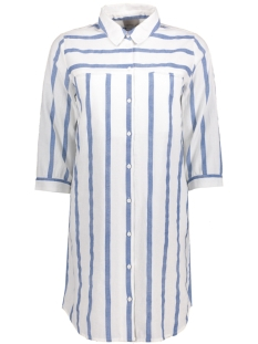 Vero Moda Tuniek VMSTRIPY 3/4 LONG SHIRT A 10171489 Snow White/ Blue Wide