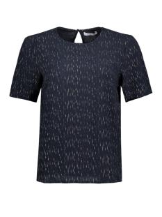 Pieces T-shirt PCJEN FOIL S/S TOP D2D 17082045 Navy Blazer