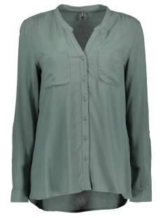 Only Blouse onlFIRST LS POCKET SHIRT NOOS WVN 15133028 Balsam Green