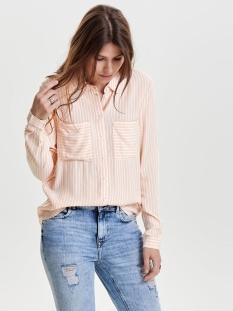 jdyjenner l/s shirt wvn 15129438 jacqueline de yong blouse cameo rose/white