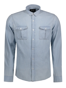Only & Sons Overhemd onsADNAN LS DENIM SHIRT 22006481 Light Blue Denim