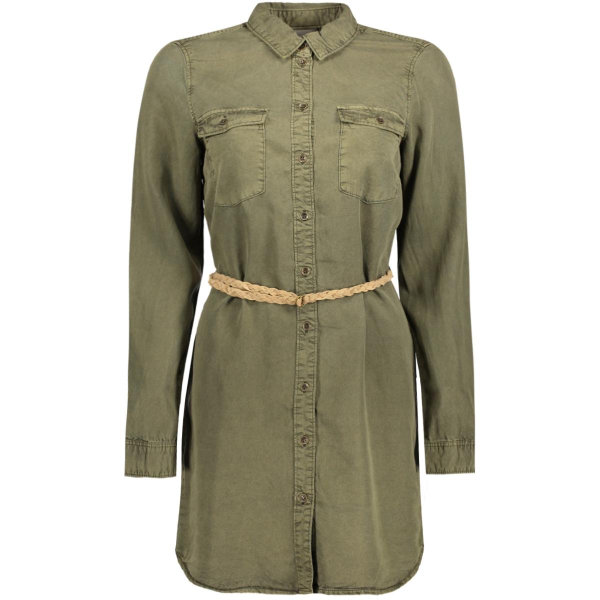 vmzoe ls tecel long shirt ga 10176305 vero moda blouse ivy green