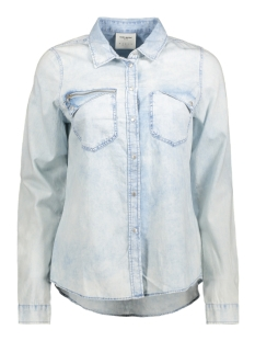 Vero Moda Blouse VMNEW PIPPER LS DENIM ZIPPER 10176241 Light Blue Denim