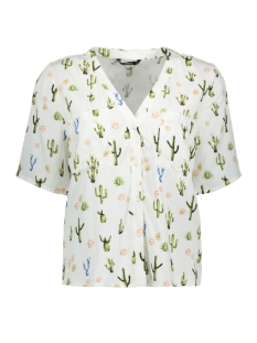 Only Blouse onlLEMON 2/4 SHIRT WVN 15139419 Cloud Dancer/Cactus Rose