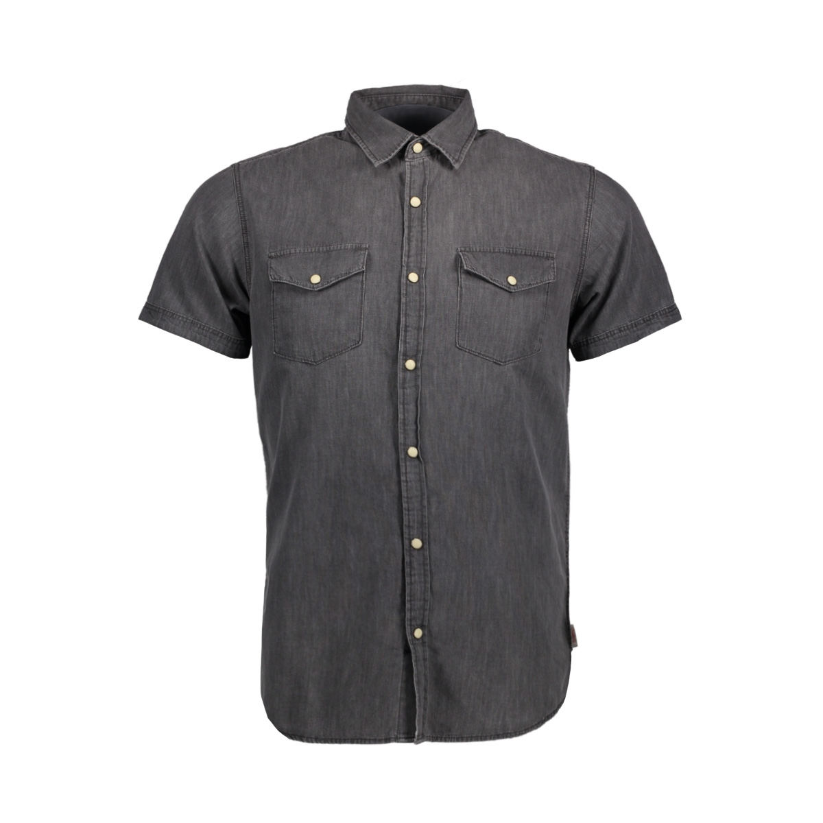 jorone shirt ss noos 12118750 jack & jones overhemd black denim
