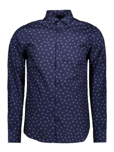 Jack & Jones Overhemd JPROCCASION PRINT SHIRT L/S PLAIN 12120728 Insignia Blue