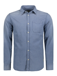 Jack & Jones Overhemd JJVBRANSON SHIRT L/S ONE POCKET 12114477 Mood Indigo