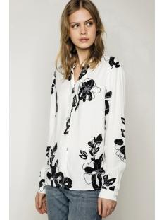 pckaren shirt 17082056 pieces blouse cloud dancer/ col black