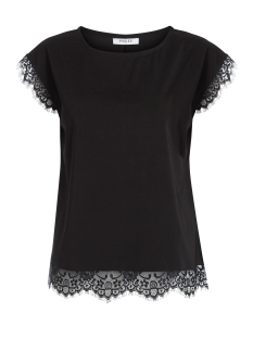 Pieces T-shirt PCSABY LACE TOP 17082865 Black