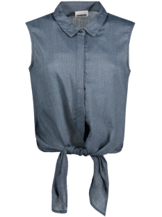 Noisy may Blouse NMEVELYN S/L TIE SHORT SHIRT 4 10178549 Ombre Blue