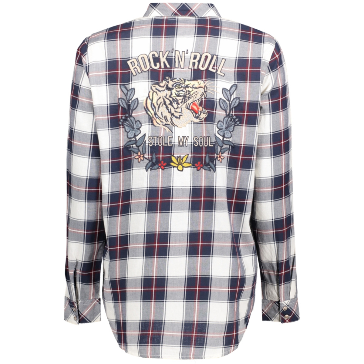 onlgava hailey l/s shirt wvn 15135789 only blouse cloud dancer/rood