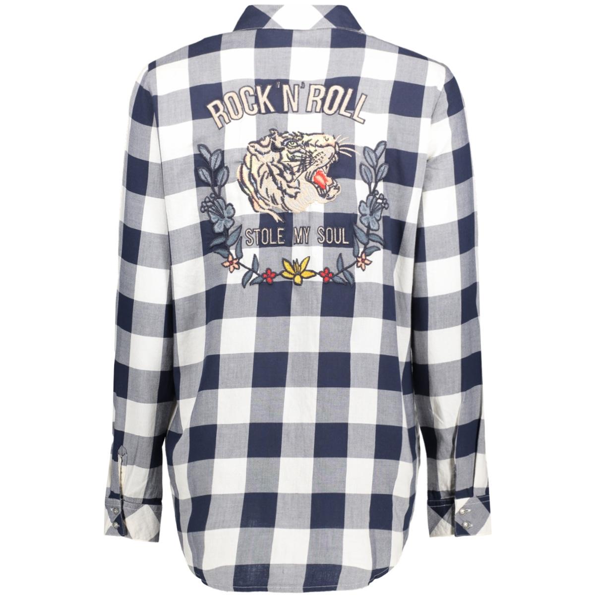 onlgava hailey l/s shirt wvn 15135789 only blouse cloud dancer