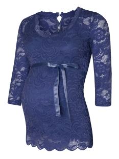 Mama-Licious Positie shirt MLNEWMIVANA  3/4 WOVEN TOP 20007865 Dark Denim