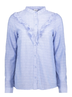 JDYFUTURA L/S FRILL SHIRT WVN 15141337 Light Blue/ Cloud Danc