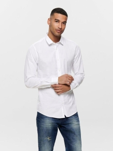 onsalfredo ls shirt noos 22007080 only & sons overhemd white