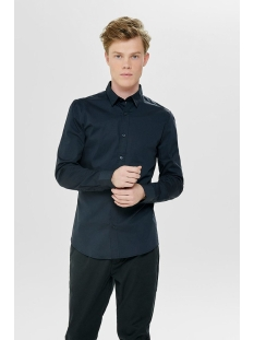 onsalfredo ls shirt noos 22007080 only & sons overhemd dark navy