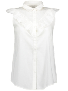 Vero Moda Blouse VMOLIVIA SL SHORT TIE TOP 10182002 Snow White