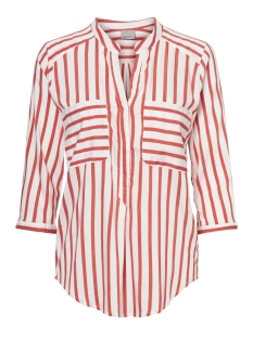Vero Moda Blouse VMERIKA STRIPE 3/4 SHIRT E10 COLOR 10188642 Snow White/Flame