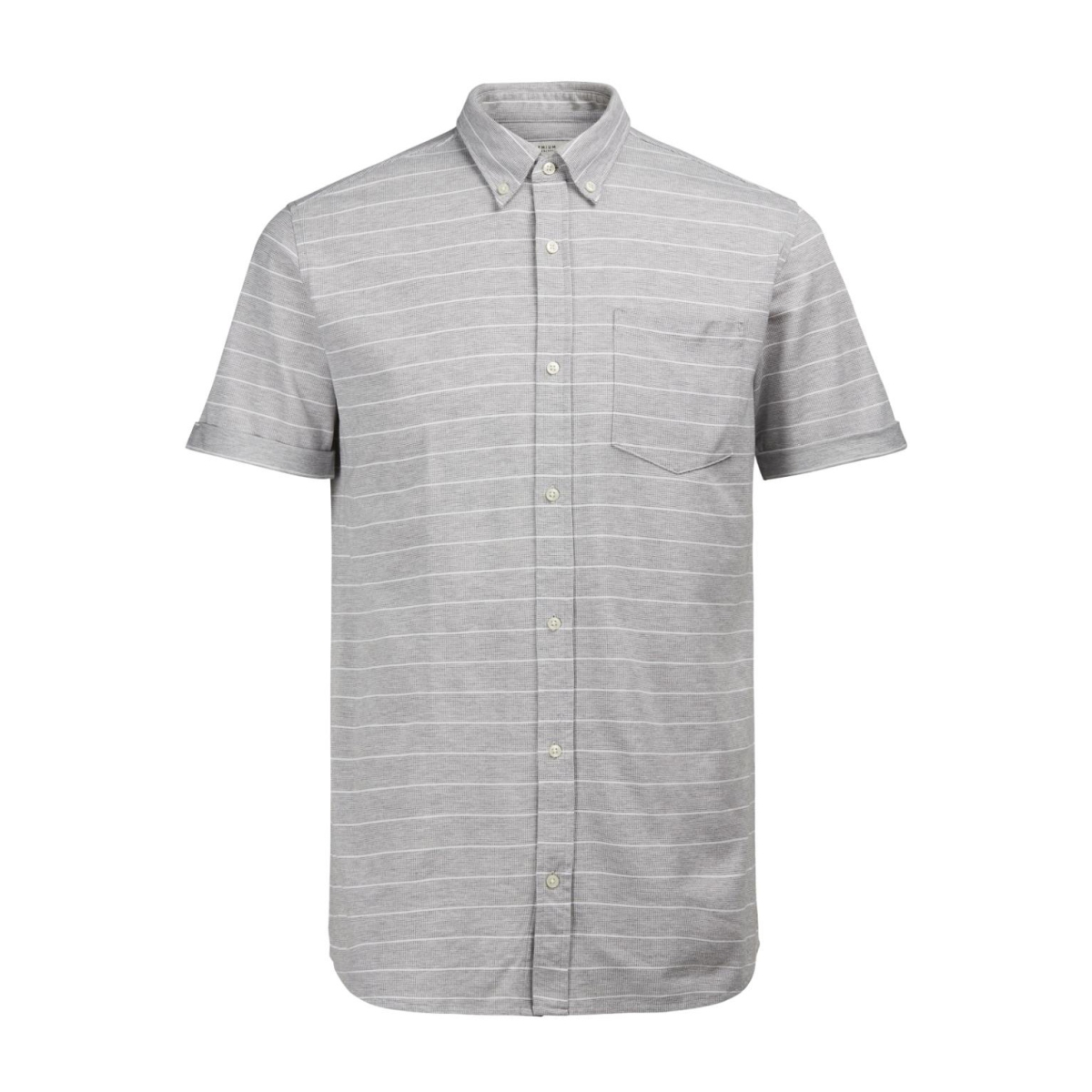 jpraldgate shirt s/s 12120499 jack & jones overhemd light grey mela/slim fit