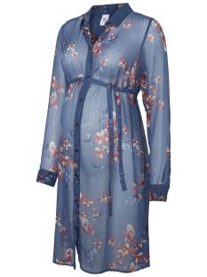 Mama-Licious Positie blouse MLFUSION L/S WOVEN SHIRT TUNIC 20007885 Dark Denim