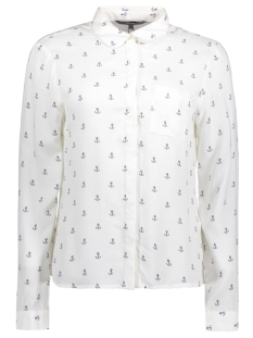 VMPRINTY L/S SHIRT REPEAT 10191686 Snow white