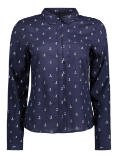 Vero Moda Blouse VMPRINTY L/S SHIRT REPEAT 10191686 Navy Blazer
