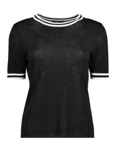 Only T-shirt onlKAMILLA 2/4 PULLOVER KNT 15140057 Black/W. Matching