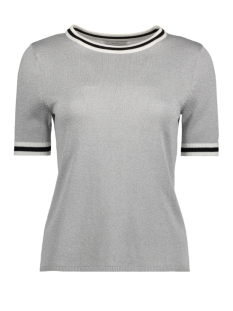 Only T-shirt onlKAMILLA 2/4 PULLOVER KNT 15140057 Silver/W Silver