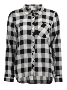 Jacqueline de Yong Blouse JDYLOLA L/S CHECK SHIRT WVN 15135336 Black/ Cloud Dancer