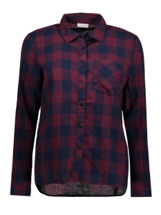 Jacqueline de Yong Blouse JDYLOLA L/S CHECK SHIRT WVN  15135336 Vineyard Wine/ Black Iris