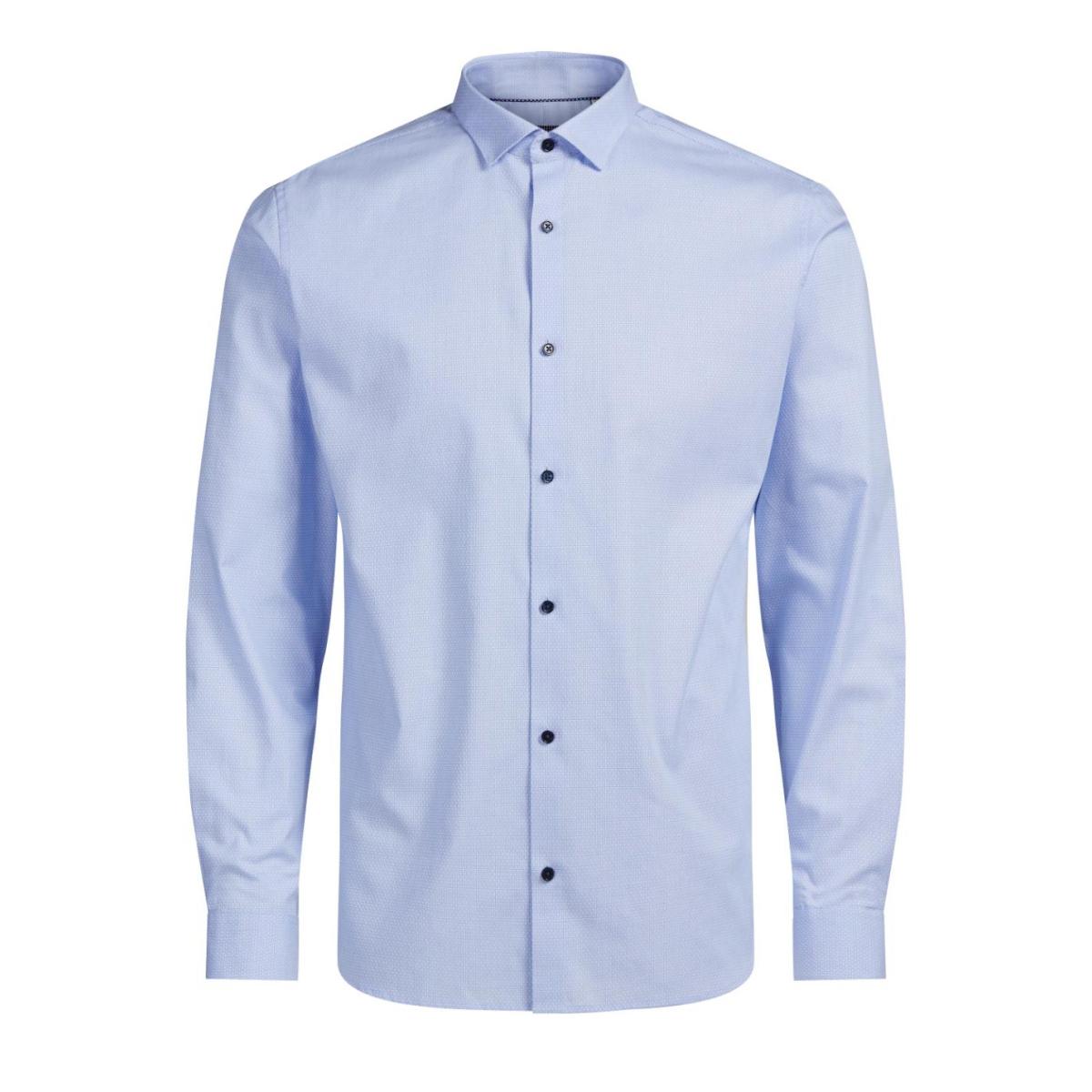 jprjenson shirt l/s noos 12125174 jack & jones overhemd cashmere blue
