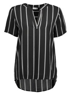Jacqueline de Yong T-shirt JDYMY S/S PLACKET TOP WVN 15140251 Black/ Cloud Dancer