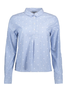 Only Blouse onlAMY L/S STAR SHIRT WVN 15141926 Cloud Dan/ White