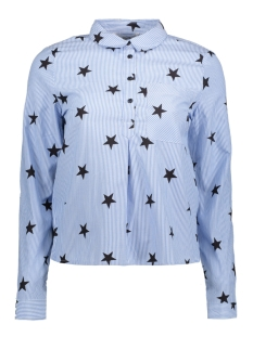 Only Blouse onlAMY L/S STAR SHIRT WVN 15141926 Cloud Dan/ Black