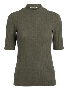 Pieces T-shirt PCAMY 2/4 TURTLENECK TOP NOOS 17079709 Dark Olive