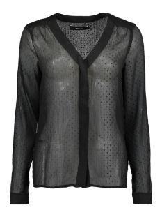 Vero Moda Blouse VMFLOCKS LS SHIRT 10186024 Black/ Black Dots