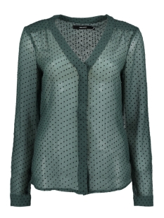 Vero Moda Blouse VMFLOCKS LS SHIRT 10186024 Green Gables/ Black Dots
