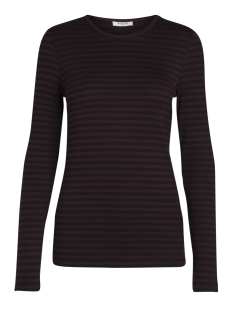 Pieces T-shirt PCRAYA ROUND NECK BLOUSE NOOS 17073091 Port Royale/ Black