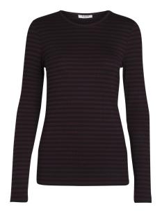 Pieces T-shirt PCRAYA ROUND NECK BLOUSE NOOS 17073091 Port Royale/ Black