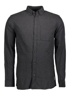 jjvoakland shirt l/s one pocket noos 12126831 jack & jones overhemd caviar