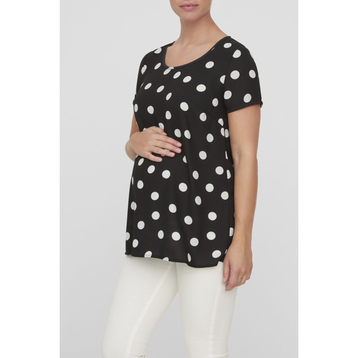 mlhacket s/s woven top 20007999 mama-licious positie shirt black