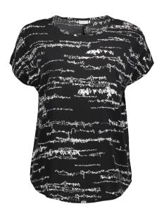Jacqueline de Yong T-shirt JDYMELANIE S/S TOP WVN FS 15137090 Black/ Melanie