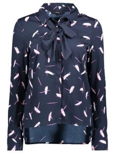 vmcamilla l/s bow shirt 10190492 vero moda blouse navy blazer/camilla pr