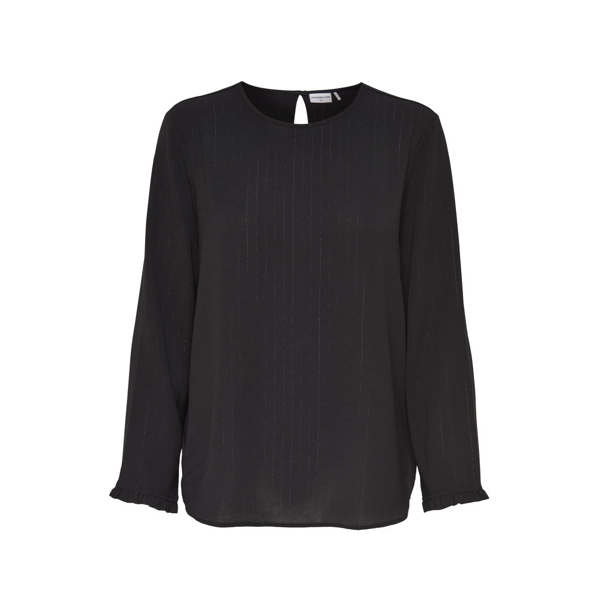 jdyserenity l/s blouse wvn 15143328 jacqueline de yong trui black/gold