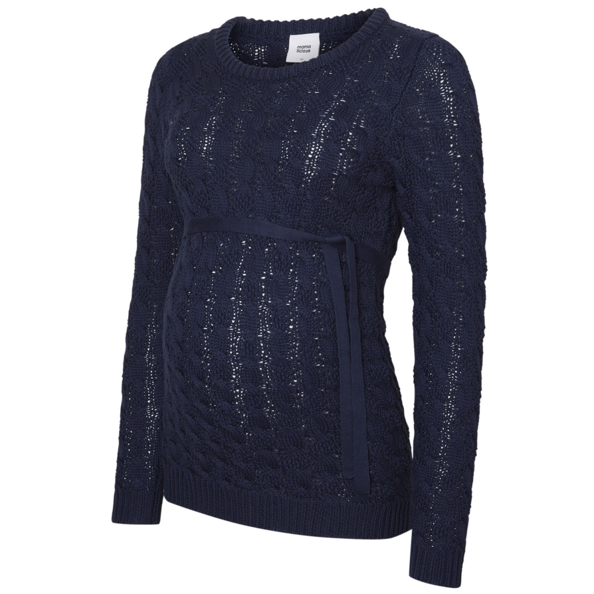 mlwalli l/s knit blouse 20007994 mama-licious positie trui medieval blue