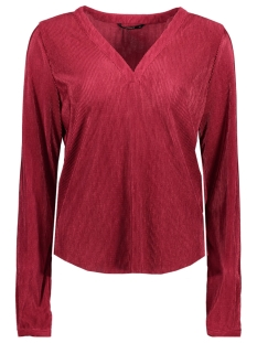 onlliga v-neck top wvn 15144948 only blouse rumba red