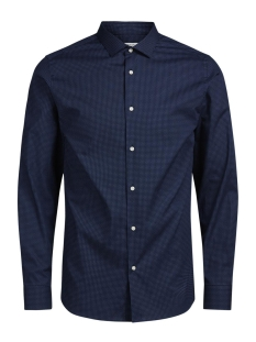 Jack & Jones Overhemd JPRJOSE SHIRT L/S PLAIN 12122830 Navy Blazer