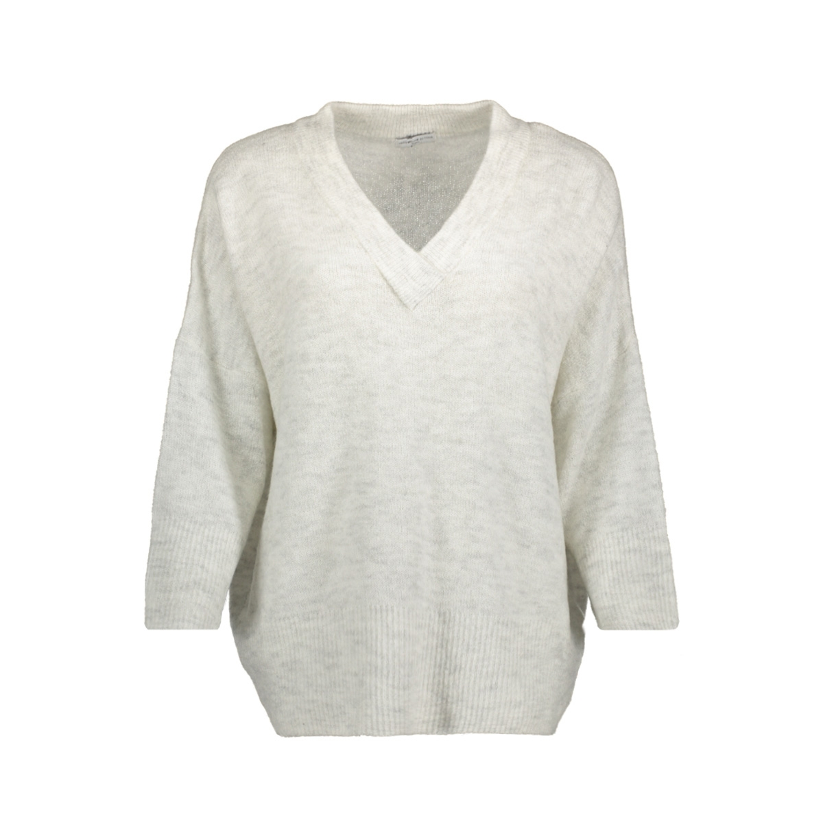 jdysoldier 3/4 v-neck pullover knt 15138663 jacqueline de yong trui white/melange